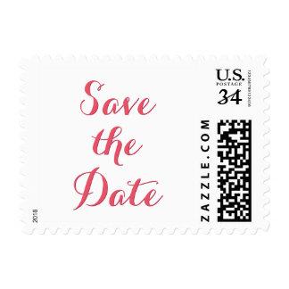 Save the Date Plain Wedding Postcard Postage Stamp