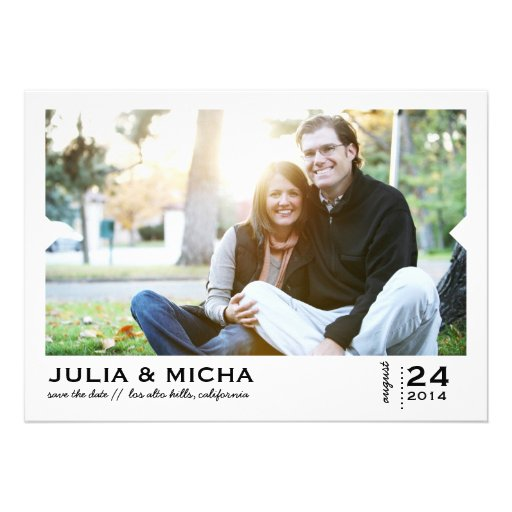Save the Date Pointed Frame Photo Card