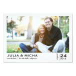 "Save the Date Pointed Frame Photo Card 5"" X 7"" Invitation Card"