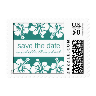 Save The Date Postage (Hibiscus Sea Foam Green)