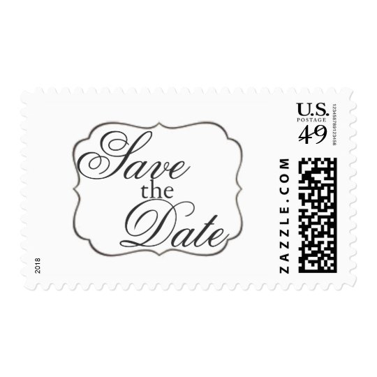 Save the Date Postage | Save the Date Frame|white