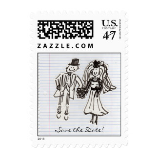 Save the Date! Postage Stamp