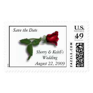 Save the Date Postage Stamp Template