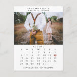 """Save the Date Postcard<br><div class=""""desc"""">This simple,   wedding save the date template features a clean,  modern design. Customize it with your information and make it uniquely yours!  To move the heart,  click personalize > scroll down > click """"customize further"""".</div>"""