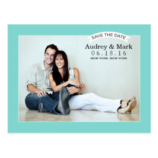 Save the Date Postcard | Aqua Blue