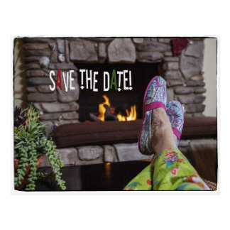 Save The Date Postcard for Pajama party