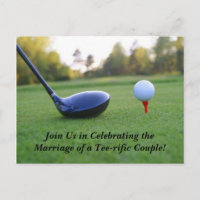 Save The Date Postcard-Golf Theme Announcement Postcard
