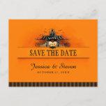 🎃  Save the Date Postcard - Halloween Love
