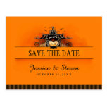 Save the Date Postcard - Halloween Love