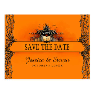 Save the Date Postcard - Halloween Love Postcard