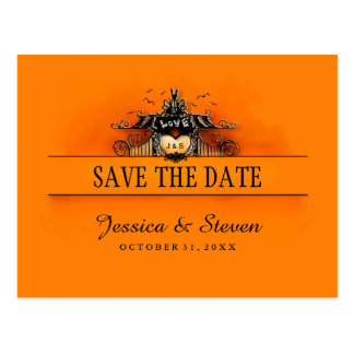 Save the Date Postcard - Halloween Love