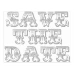 Save the Date Postcard in Silver Grey