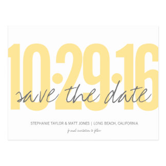 Save The Date Postcard, Large Date Postcard