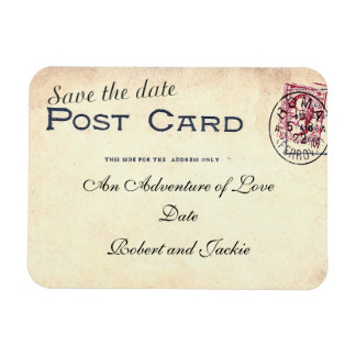 Save The Date Postcard Magnet