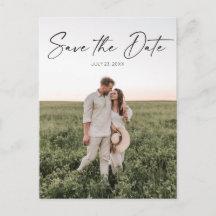 Save The Date Postcard - Minimal Script