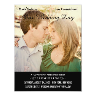 Save the Date Postcard | Movie Poster Design