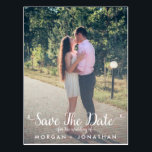 "Save The Date Postcard Template<br><div class=""desc"">This template can be customized on your own.  It&#39;s so easy!  This save the date postcard template features a fun,  whimsical,  elegant cursive script.</div>"