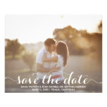 """Save The Date Postcard Template 4.5"""" X 5.6"""" Flyer"""