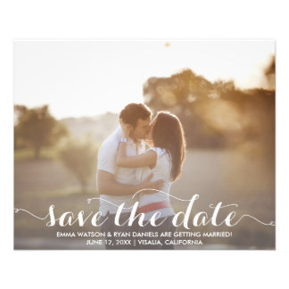"Save The Date Postcard Template 4.5"" X 5.6"" Flyer"