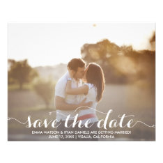 Save The Date Postcard Template Flyer at Zazzle