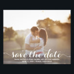 """Save The Date Postcard Template Flyer<br><div class=""""desc"""">An affordable save the date postcard template on 100lb glossy,  recycled paper.  Upload your own photo and customize this save the date postcard template with your own personal information and add special note on the back.</div>"""