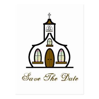 Save the Date Postcard - White Church