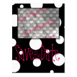 Save the Date Postcard with your photo black white