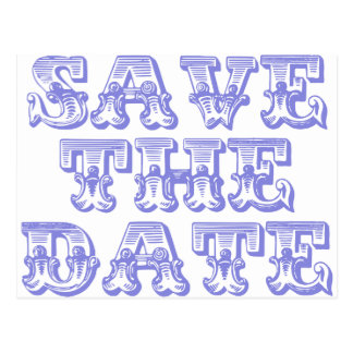 Save the Date Postcards in Blue