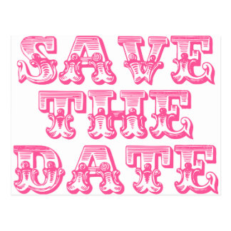 Save the Date Postcards in Hot Pink/Fuschia