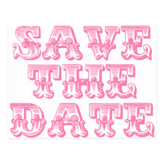 Save The Date Postcards in Pink