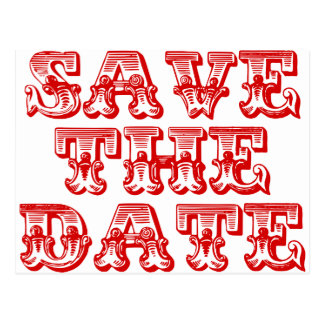 Save the Date Postcards in Red