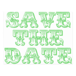 Save the Date Postcards in Sage Green