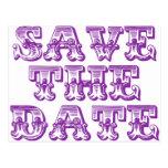 Save the Date Postcards Purple