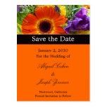 Save the date postcards, summer bouquet