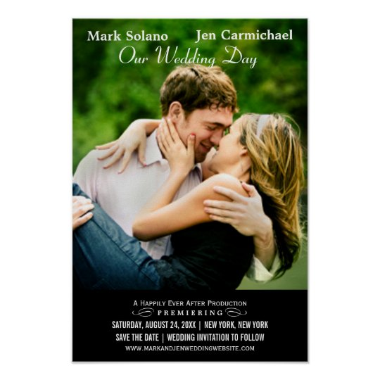 save the date poster movie themed design zazzle