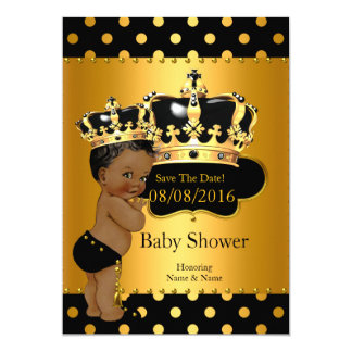 Save The Date Prince Baby Shower Ethnic Card