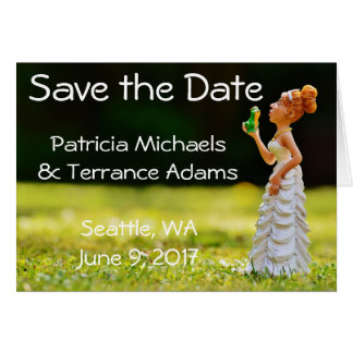 Save the Date Princess Frog Card