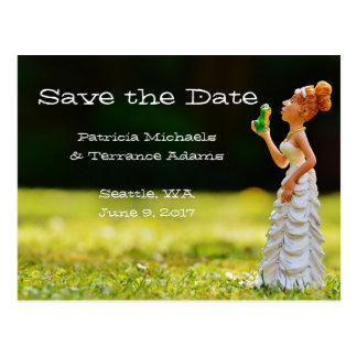 Save the Date Princess Frog Postcard
