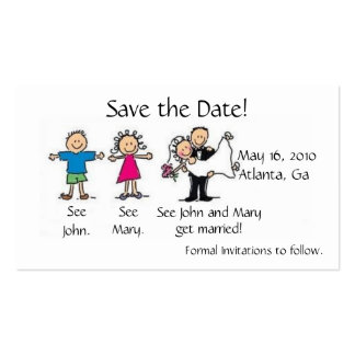 Save the Date Profile Card Business Card