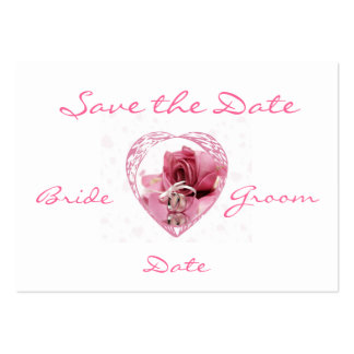 Save the Date Profile Card Large Business Card