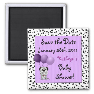 Save the Date Purple Baby Shower Magnet