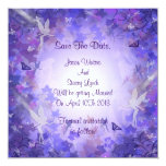 Save the date Purple Fairy Card