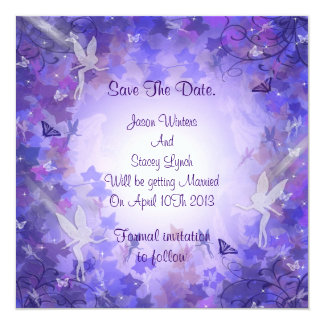 Save the date Purple Fairy Card