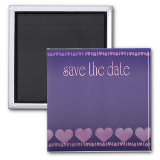 Save the date purple magnet