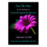 Save The Date Purple Pink Daisy I Business Card