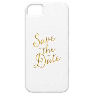 Save The Date Quote Gold Faux Foil Engagement iPhone SE/5/5s Case