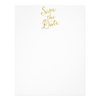 Save The Date Quote Gold Faux Foil Engagement Letterhead