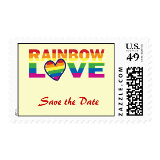 Save the Date/Rainbow Wedding/Gay Pride Postage Stamps