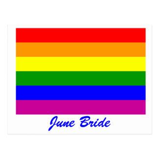 Save the Date/Rainbow Wedding/Gay Pride Postcard