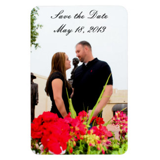 Save The Date Rectangular Photo Magnet